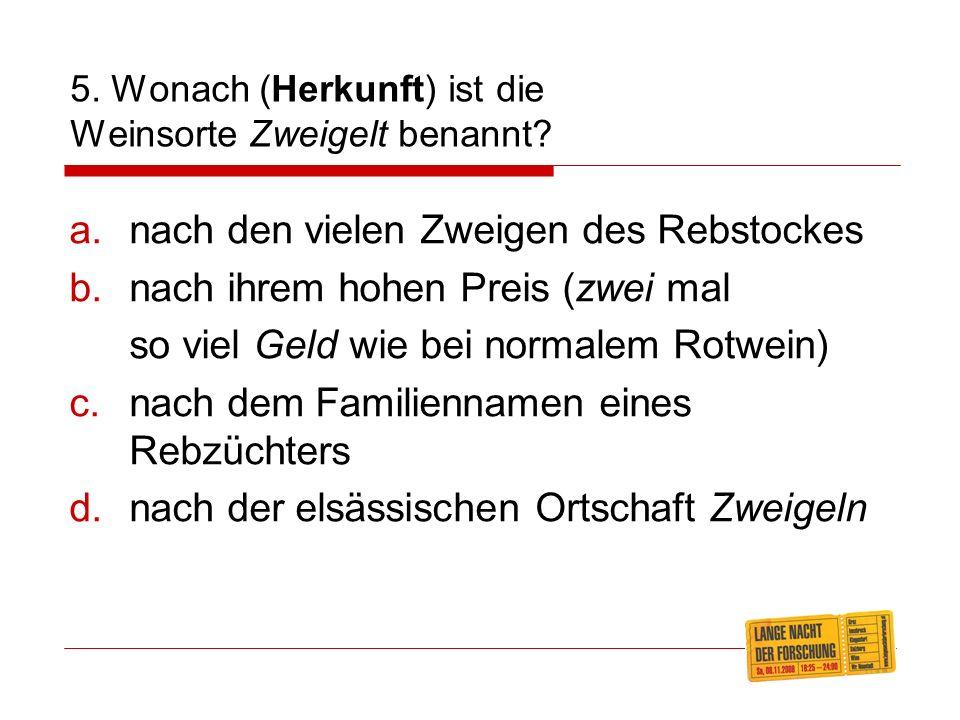 4. Was bedeutet(e) in Oberösterreich a gschwinds Hiadl? ein einfacher Alltagshut ein schlecht/schlampig gebautes Haus ein im Stehen rasch hinuntergeki