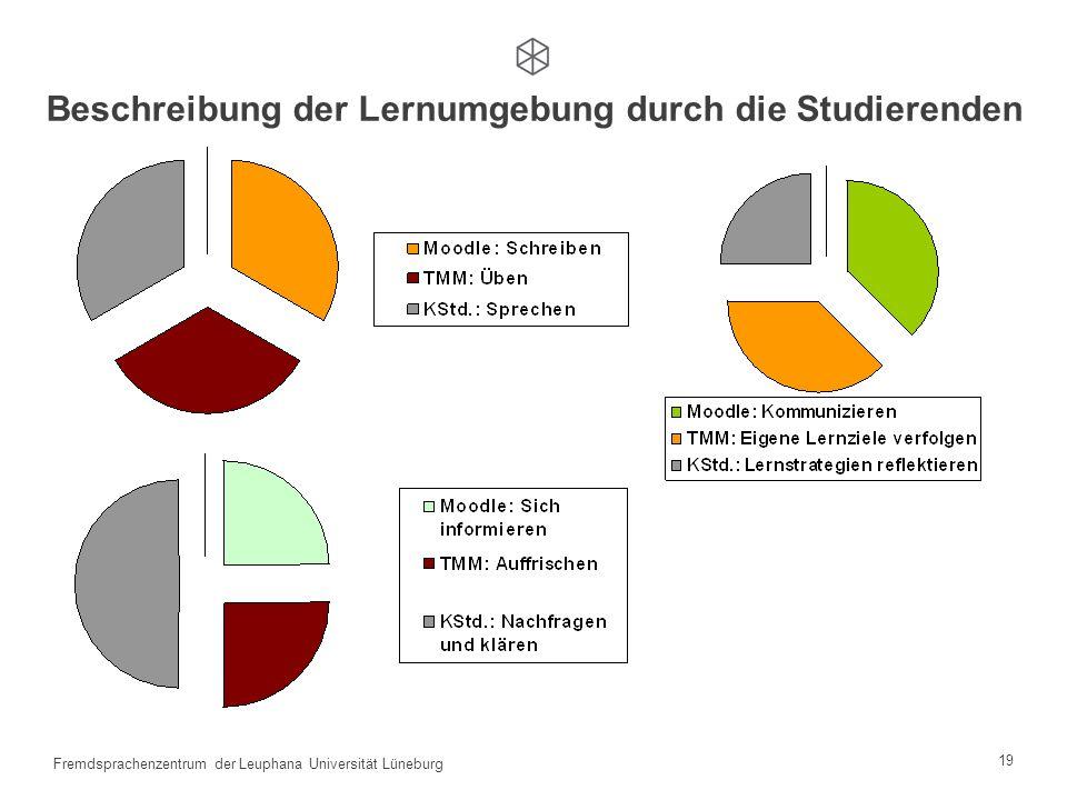 18 Fremdsprachenzentrum der Leuphana Universität Lüneburg TMM + Moodle + Kontaktstunden Erste Bilanz Umgang mit TMM Umgang mit TMM Autonomisierung Kul