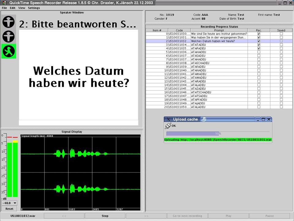 H.-G- Tillmann & Florian Schiel: Sprachressourcen – Dienstleistungen BITS20 TP 4