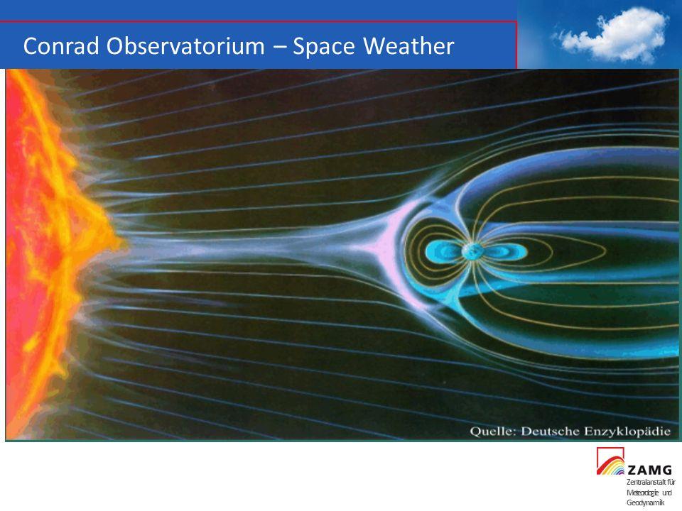 Zentralanstalt für Meteorologie und Geodynamik Conrad Observatorium – Space Weather