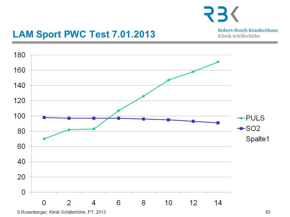 S.Rosenberger, Klinik Schillerhöhe, PT, 2013 63 LAM Sport PWC Test 7.01.2013