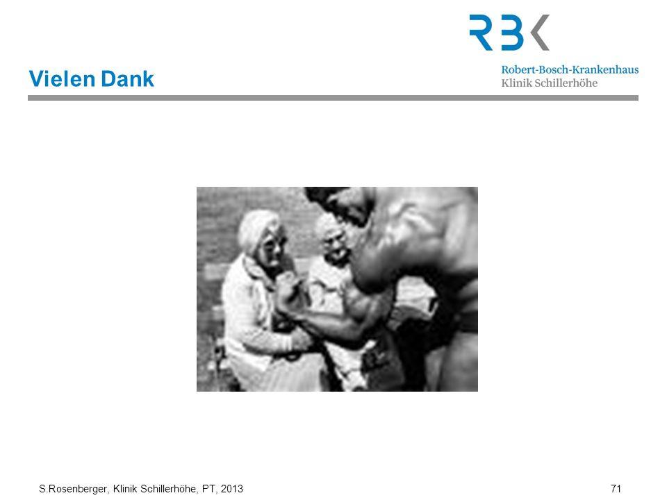 S.Rosenberger, Klinik Schillerhöhe, PT, 2013 71 Vielen Dank