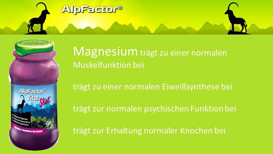 Magnesium trägt zum Elektrolytgleichgewicht bei trägt zur Verringerung von Müdigkeit und Ermüdung bei trägt zu einem normalen Energiestoffwechsel bei