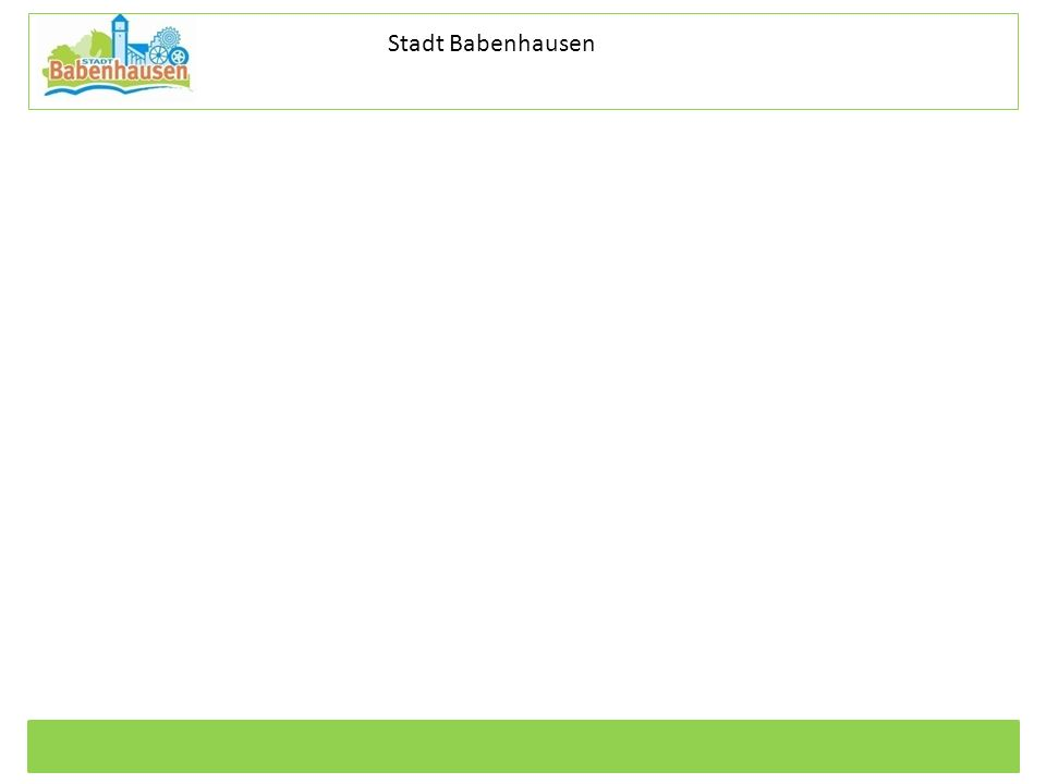 Kommunale Dienstleistungen Eigenbetrieb der Stadt Babenhausen Betriebszweig Stadtentwässerung Stadt Babenhausen