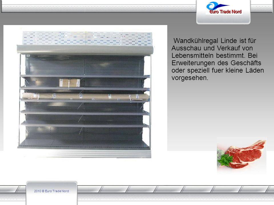 2010 © Euro Trade Nord Technische Daten ARN-25N L-2.5 – 3.75m ARN-25NL L-2.5 – 3.75m ART-25N L-2.5 – 3.75m ART25-NL L-2.5 – 3.75m Auslagen-Set 4x500mm5x500mm4x500mm5x500mm Gesamtlänge ohne Seitenteile, mm 2500-3750 Gesamthöhe, mm 1980 216019802160 Nützlich Höhe, mm 1500170015001700 Gesamtbreite, mm 1015 1115 11151115 Nützliche Breite, mm 720 820 8200 Fronthöhe, mm 450 Gewicht, kg 581548801752 Modell des Aggregats EmbracoUGNJ 9238GS EmbracoUGNJ 9238GS EmbracoUGNJ 9238GS EmbracoUGNJ 9238GS Leistungsaufnahme, W 4870 3F 80V 4870 3F 380V Kälteleistungsbedarf (-10/40),W5496 Klimaklasse3/25С/60 Temperaturbereich -1C…+1C Nennspanung 230V/3/50Hz