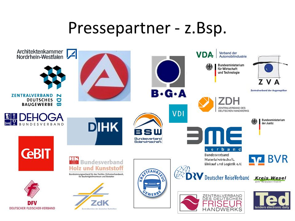Pressepartner - z.Bsp.