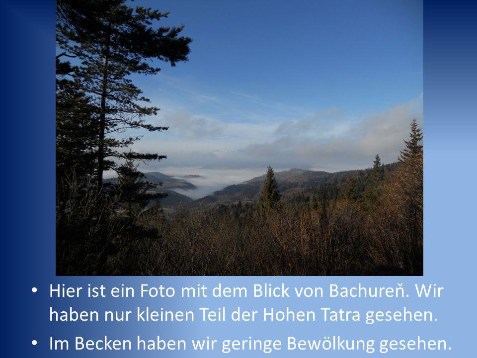 Hier ist ein Foto mit dem Blick von Bachureň. Wir haben nur kleinen Teil der Hohen Tatra gesehen.