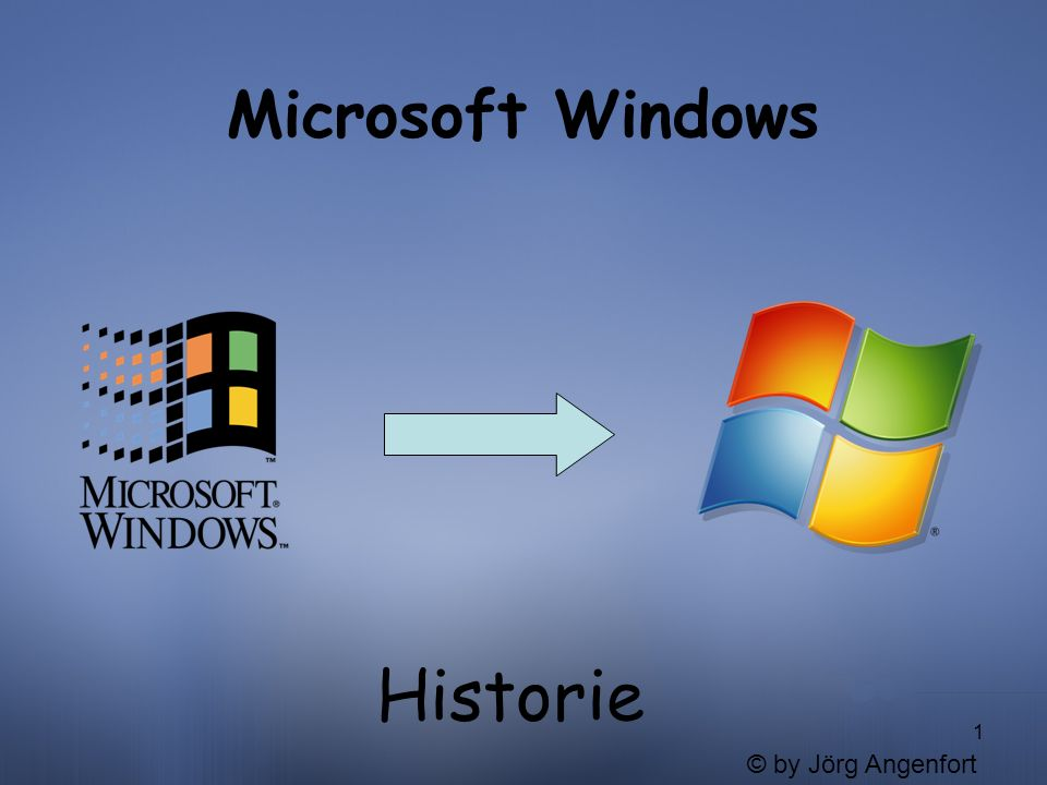 1 Microsoft Windows Historie © by Jörg Angenfort