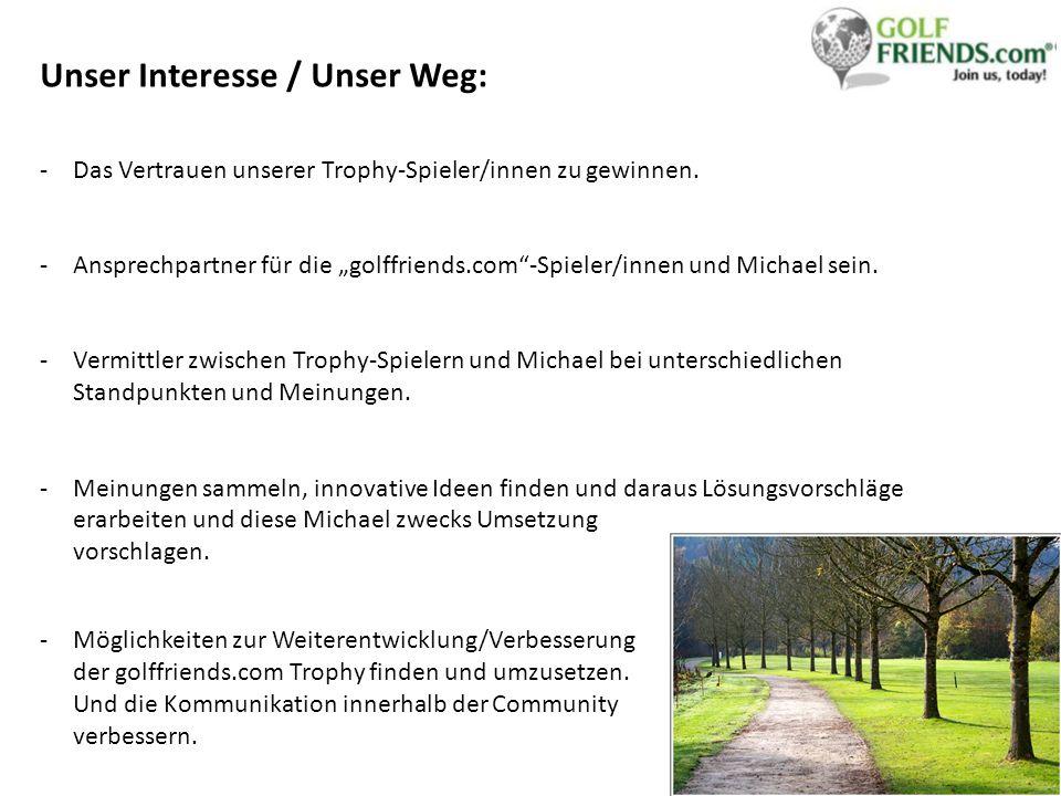 Unser Interesse / Unser Weg: -Das Vertrauen unserer Trophy-Spieler/innen zu gewinnen.