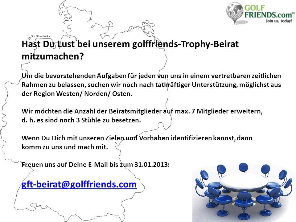 Hast Du Lust bei unserem golffriends-Trophy-Beirat mitzumachen.