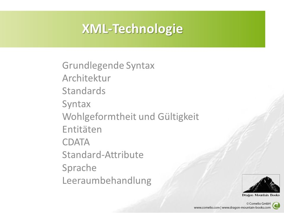 XML-Technologie: XML-Technologie: Grundlegende Syntax text node
