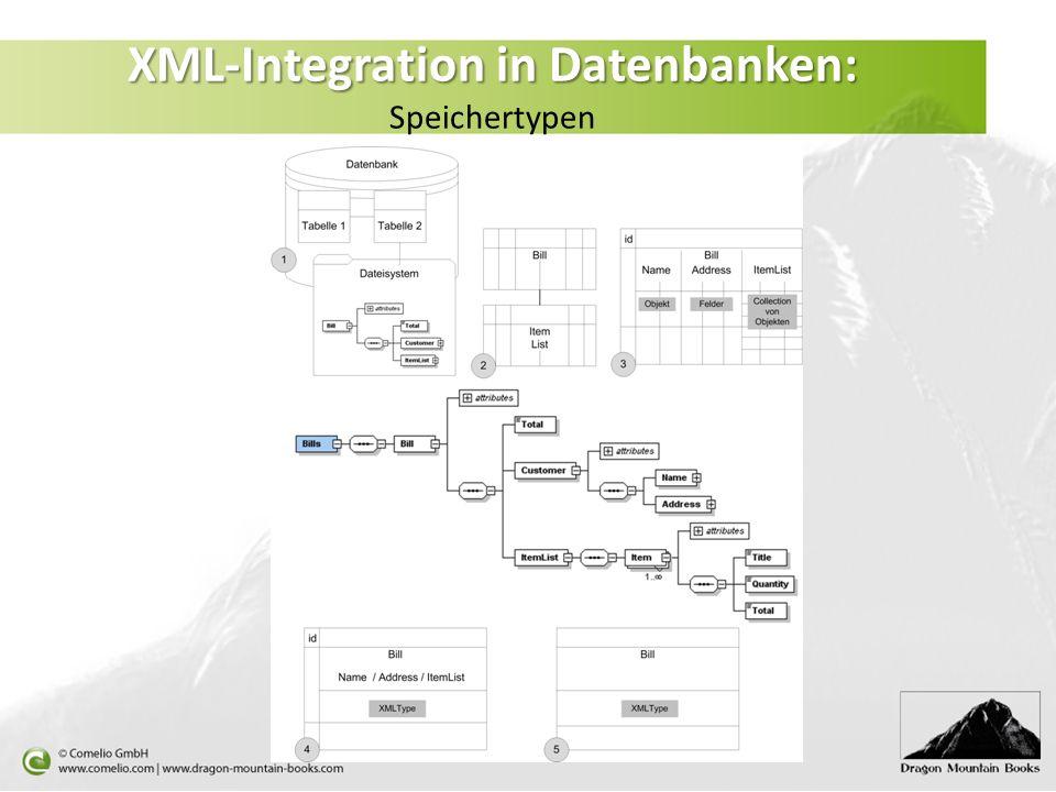 XML-Integration in Datenbanken: XML-Integration in Datenbanken: Speichertypen