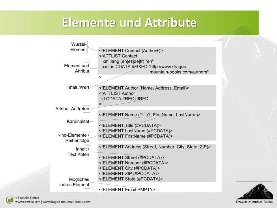 Elemente und Attribute