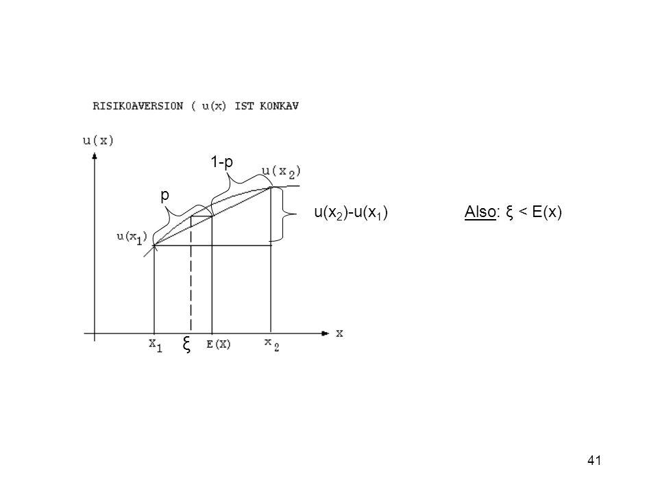 41 p 1-p u(x 2 )-u(x 1 ) Also: ξ < E(x) ξ