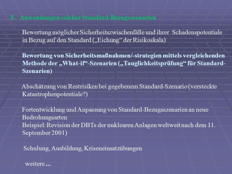 Ausblick Sicherheitsmanagement als wissenschaftliche Disziplin (angewandte Forschung) und als politische Aufgabe Operations research !.