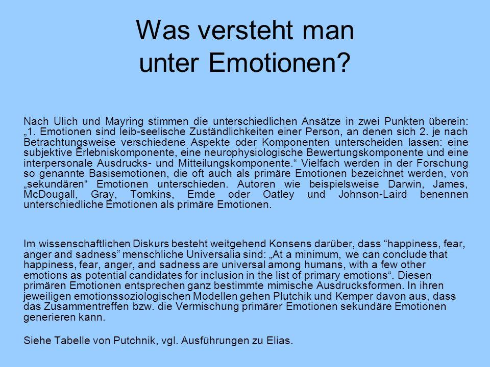 Was versteht man unter Emotionen.
