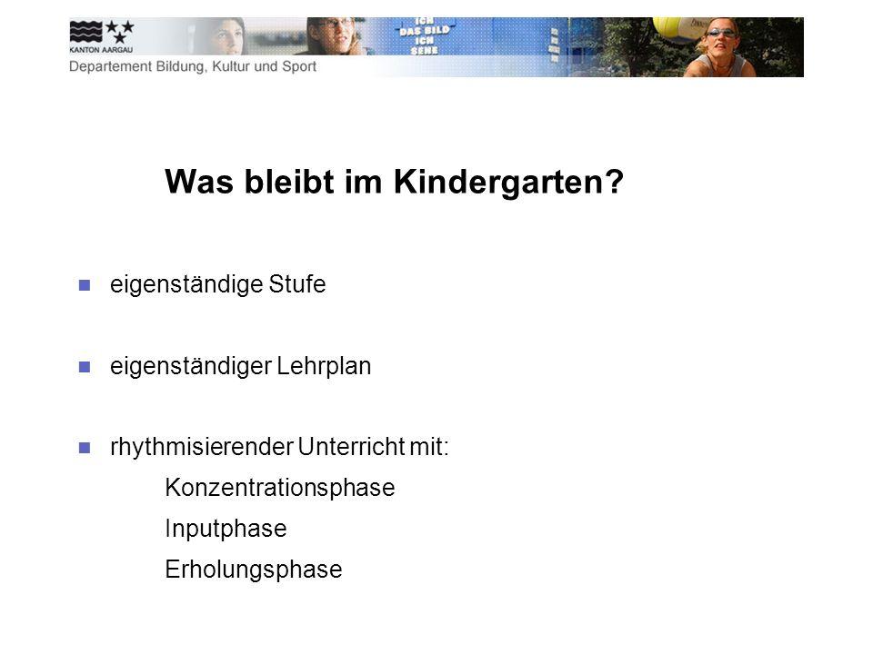 Was bleibt im Kindergarten.