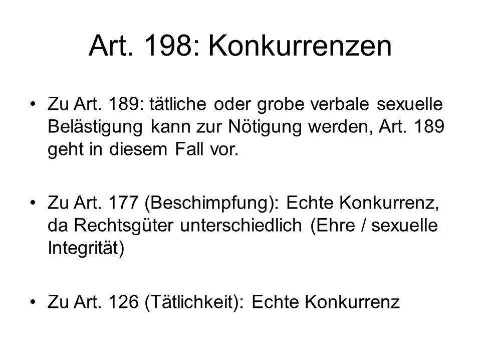 Art.198: Konkurrenzen Zu Art.