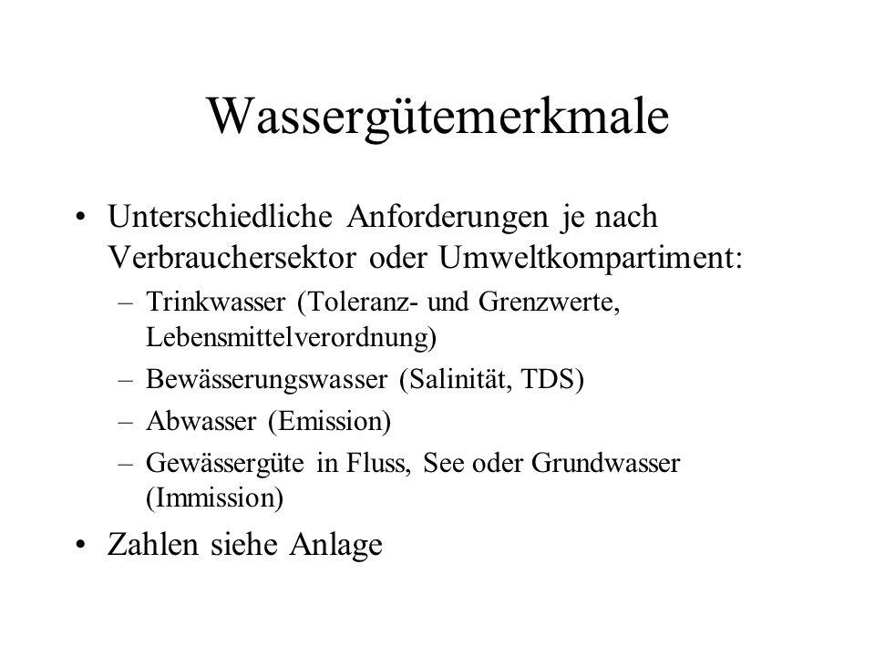 Gewässergüteklassen Integrale Beurteilung durch Biozönose Saprobienindex (entspricht im wesentlichen Sauerstoffgehalt) 1.