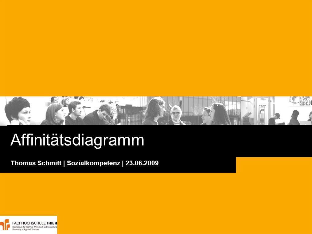 Seite 2Affinitätsdiagramm · Thomas Schmitt · Trier · 23.06.2009 Agenda Worum geht es.
