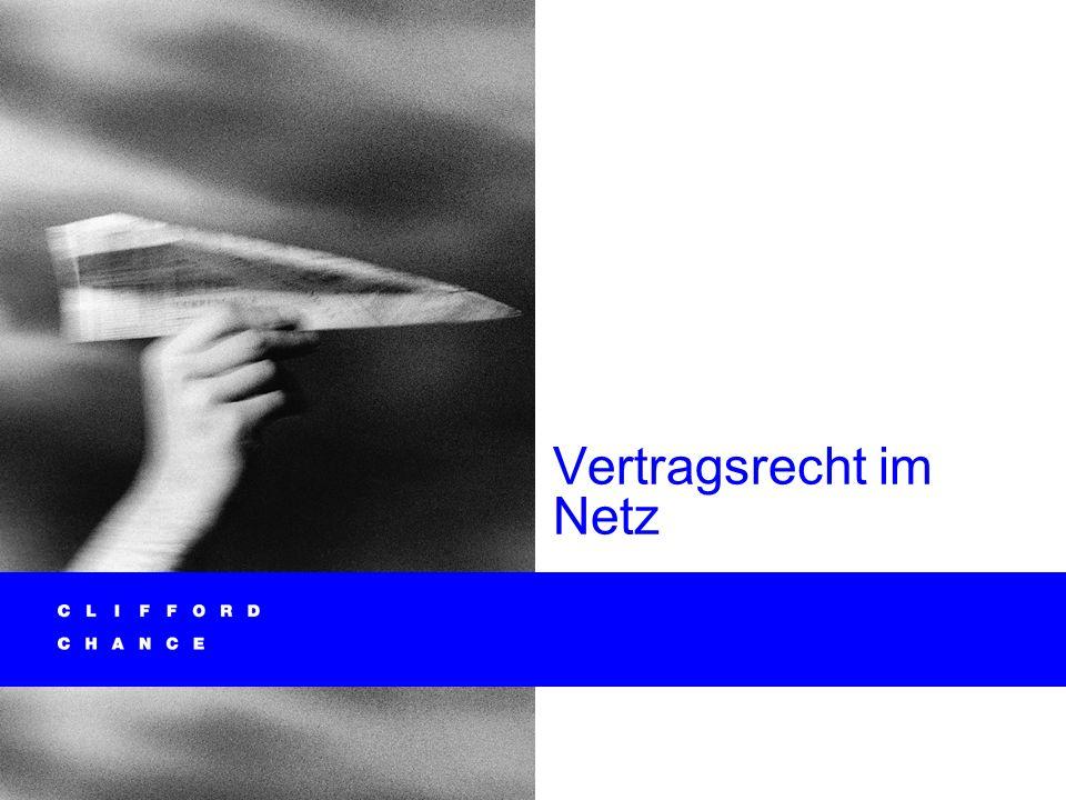 Informationstechnologie und Recht 41 Informationspflichten (BGB-InfoV) bei Fernabsatzverträgen (§§ 312 ff.