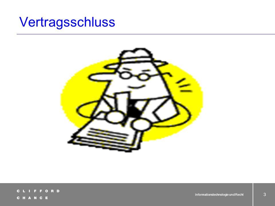 Informationstechnologie und Recht 32 Online-Verträge und AGB-Recht Problem Einbeziehung in Vertrag - Hyperlink auf Website, z.B.
