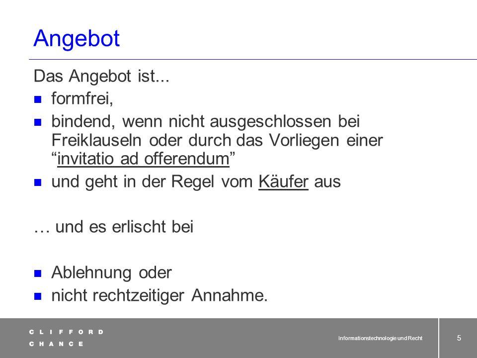 Informationstechnologie und Recht 34 Fernabsatzverträge (§§ 312 ff.