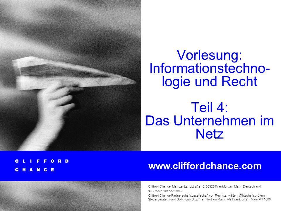 Informationstechnologie und Recht 59 Geschäftliche E-Mail Die Regeln zu Pflichtangaben in Geschäftsbriefen finden gemäß §§ 37a, 125a HGB § 80 Abs. 1 A