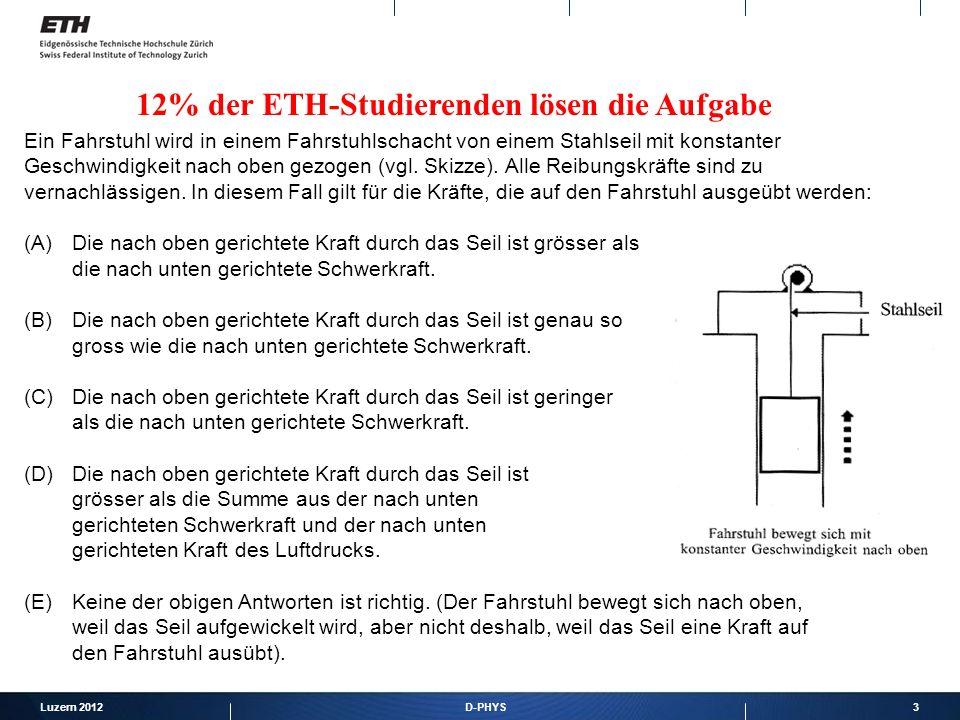4 TIMS/III Aufgabe: Die Beschleunigung eines sich geradlinig bewegenden Objektes kann bestimmt werden aus Der Steigung des Weg-Zeit-Graphen Der Fläche unter dem Weg-Zeit-Graphen Der Steigung des Geschwindigkeits-Zeit-Graphen Der Fläche unter dem Geschwindigkeits-Zeit-Graphen Prozent korrekte Lösung bei deutschen Abiturienten Deutschland: 47% Schweiz: 60% International 67%
