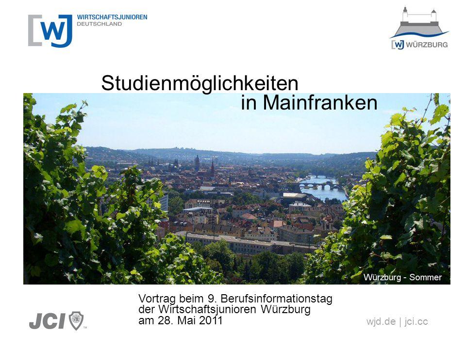 Erleben was verbindet Agenda Studienformen Hochschulen in Mainfranken Hochschulen um Mainfranken Studiengänge in Mainfranken Schlussbemerkungen