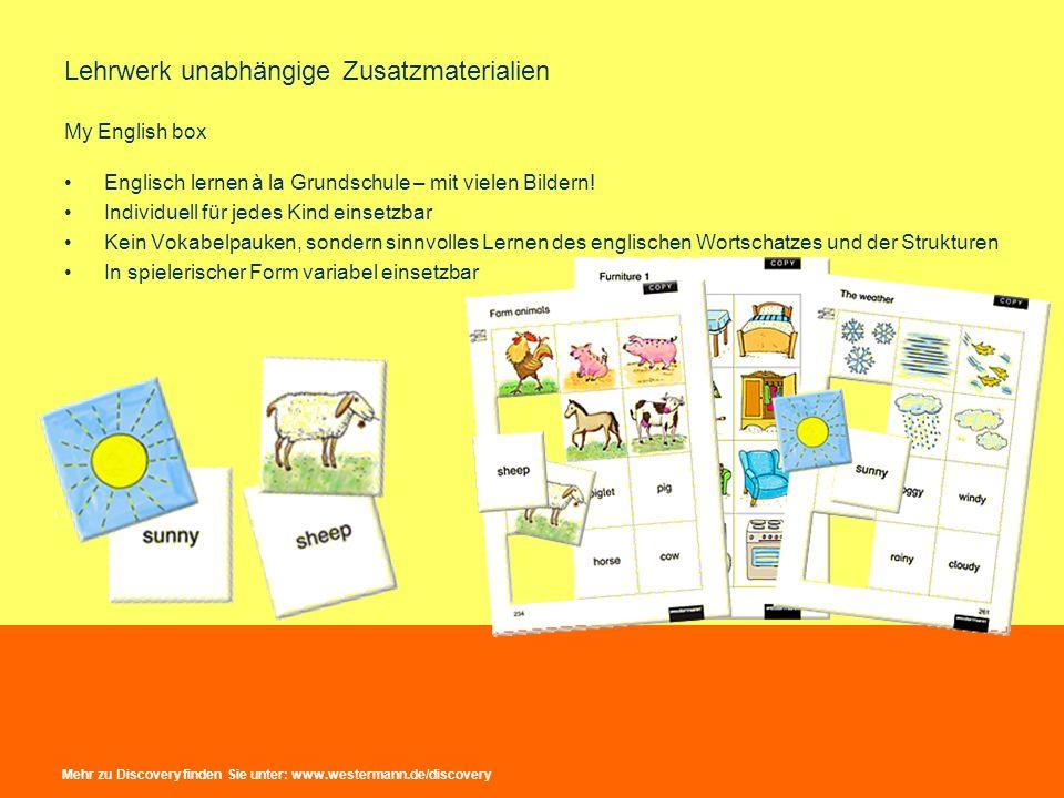 Lehrwerk unabhängige Zusatzmaterialien My English box Englisch lernen à la Grundschule – mit vielen Bildern! Individuell für jedes Kind einsetzbar Kei