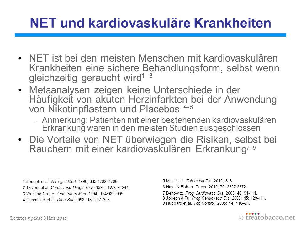 Letztes update März 2011 1 Joseph et al. N Engl J Med.