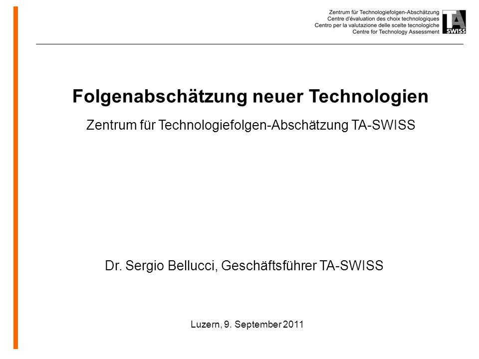 www.oeko.de Folgenabschätzung neuer Technologien Zentrum für Technologiefolgen-Abschätzung TA-SWISS Luzern, 9.