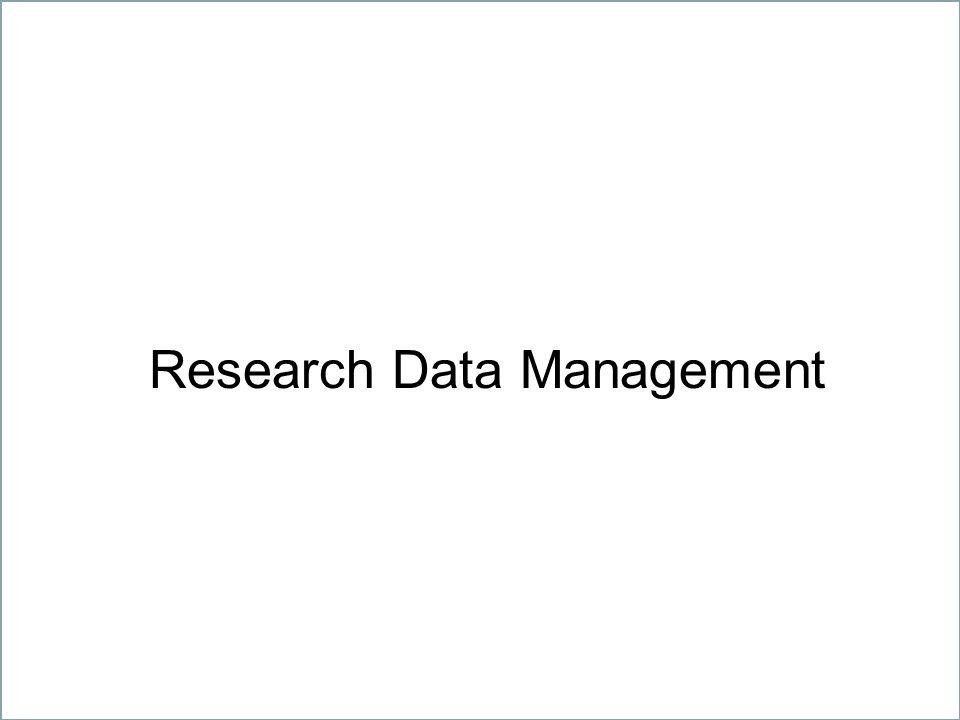 6 Geistes-, Natur-, Sozial- und Technikwissenschaften – gemeinsam unter einem Dach Research Data Management