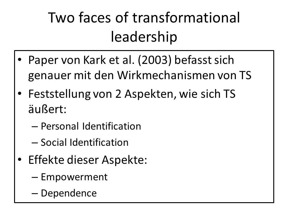 Two faces of transformational leadership Paper von Kark et al.
