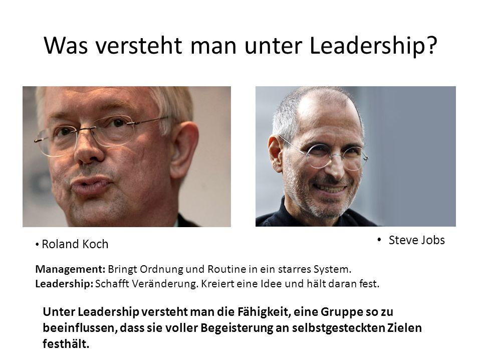 Was versteht man unter Leadership.