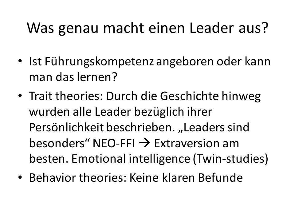 Was genau macht einen Leader aus.Ist Führungskompetenz angeboren oder kann man das lernen.