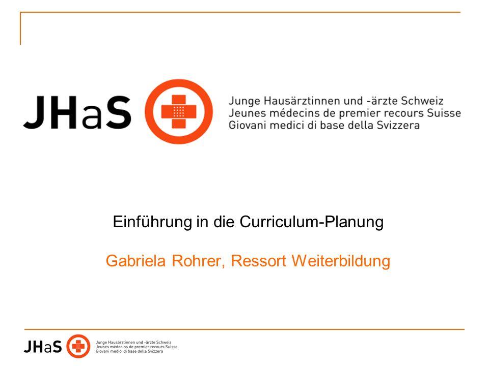 Einführung in die Curriculum-Planung Gabriela Rohrer, Ressort Weiterbildung