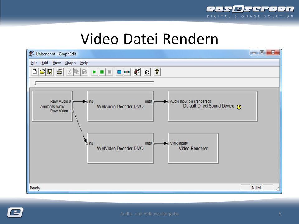 Video Datei Rendern Audio- und Videowiedergabe5