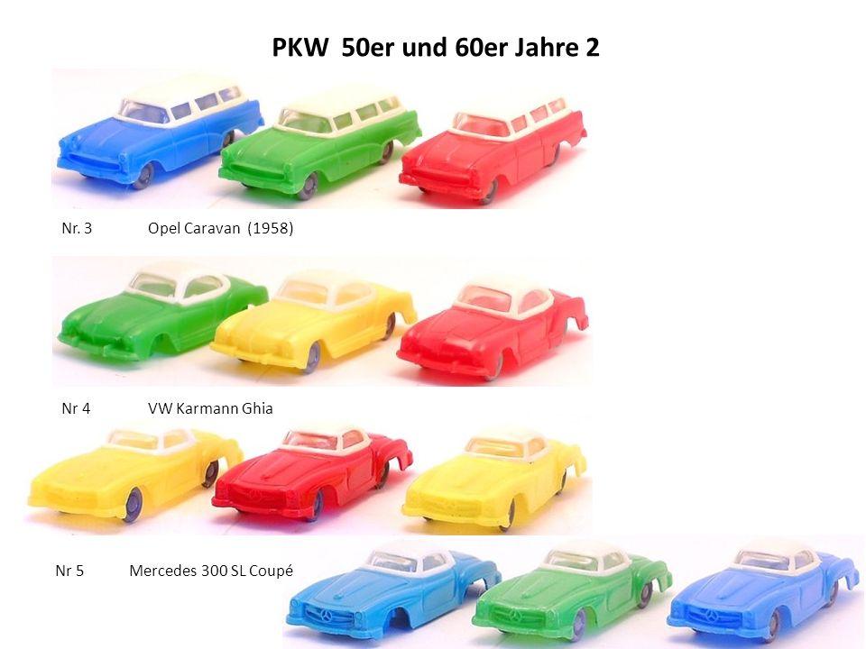 PKW 50er und 60er Jahre 2 Nr. 3 Opel Caravan (1958) Nr 4 VW Karmann Ghia Nr 5 Mercedes 300 SL Coupé