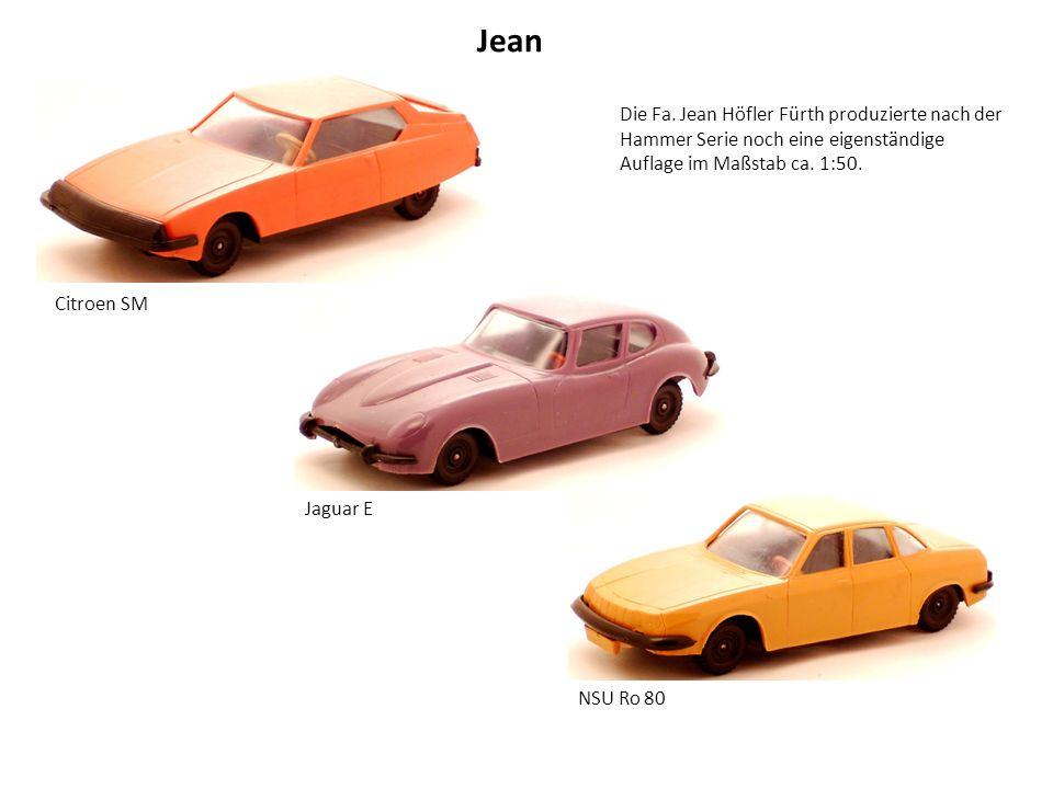 Jean Citroen SM Jaguar E NSU Ro 80 Die Fa.
