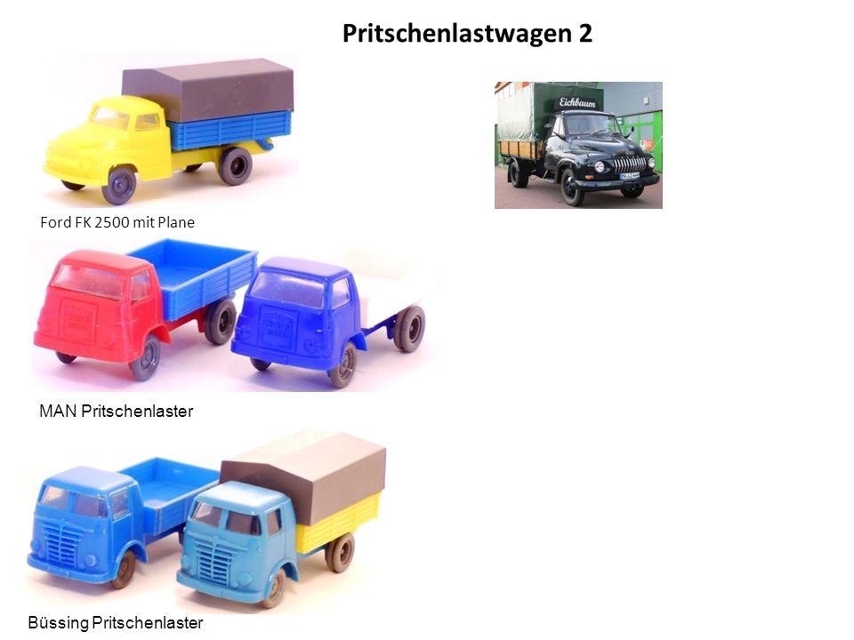 Pritschenlastwagen 2 Ford FK 2500 mit Plane MAN Pritschenlaster Büssing Pritschenlaster