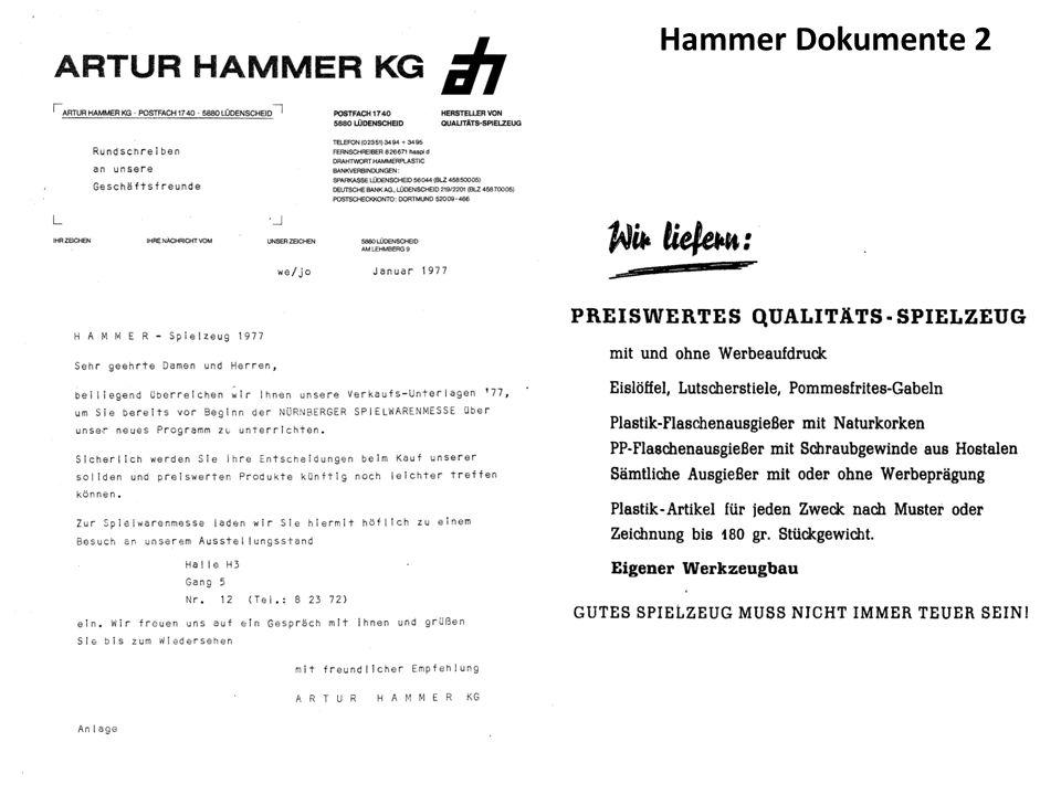 Die frühen Hammer Modelle hatten noch keine Räder und Achsen.
