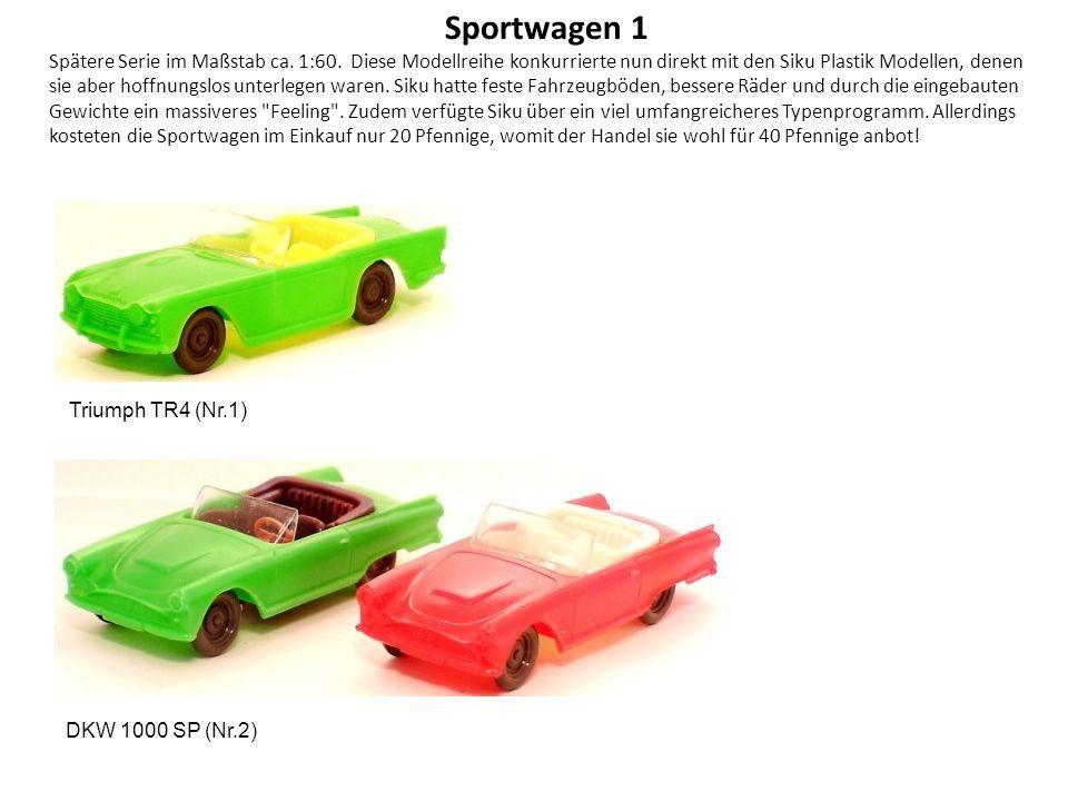 Sportwagen 1 Spätere Serie im Maßstab ca.1:60.