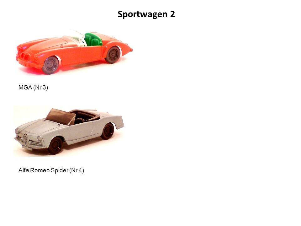 Porsche 356 (Nr.5) Fiat 1500 S (Nr.6) Die Sportwagenreihe wurde auf sparsamste Weise produziert.