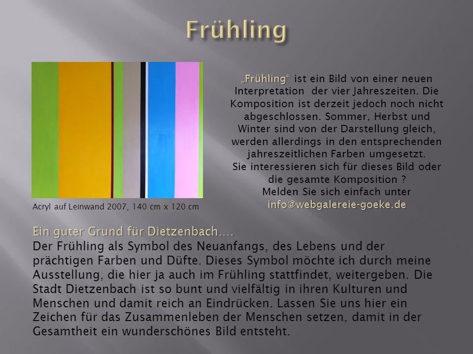 Acryl auf Leinwand 2009, 100 cm x 100 cm Punktlandung….