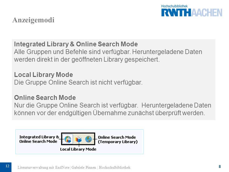 13 Datenimport: Online-Search EndNote bietet die direkte Suche in freien und lizensierten Literatur- datenbanken an.
