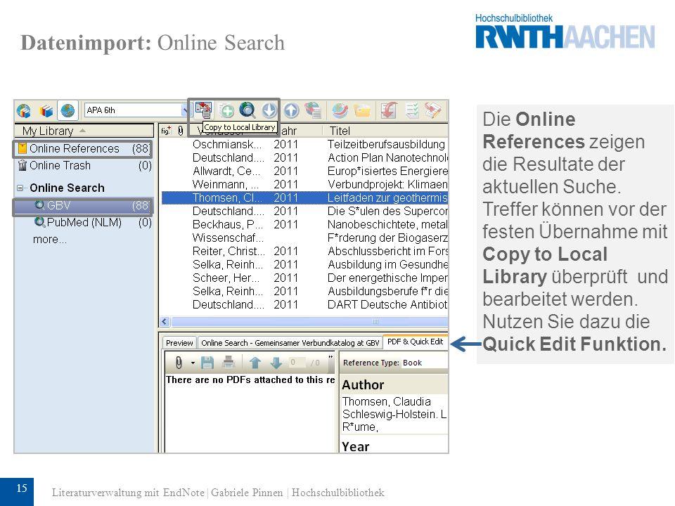 16 Datenimport: Direct Export (z.B.