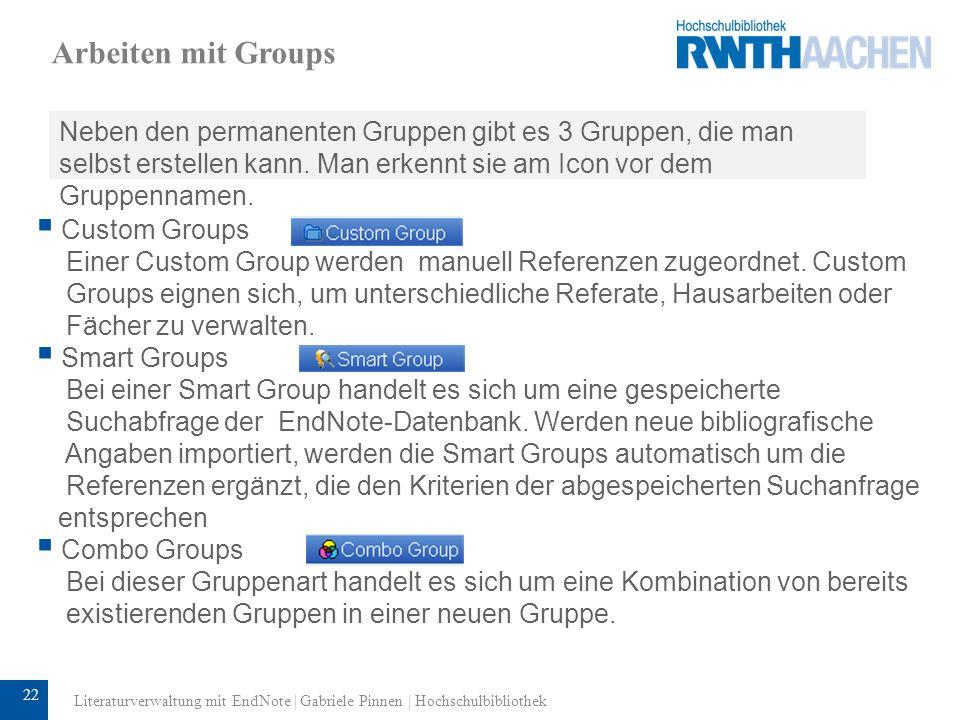 23 Arbeiten mit Groups: Smart Groups Recherchen können Sie in Smart Groups umwandeln.