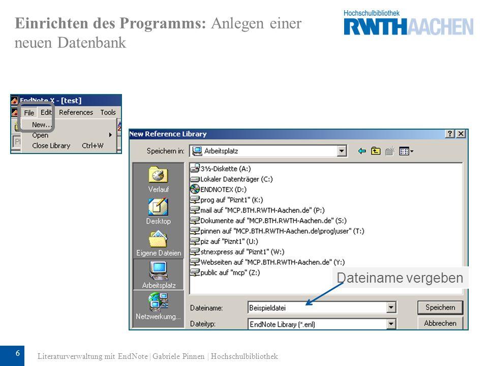7 Einrichten des Programms: Voreinstellungen Über Edit Preferences können Sie festlegen, welche Ihrer Libraries sich mit dem Start von EndNote automatisch öffnen.